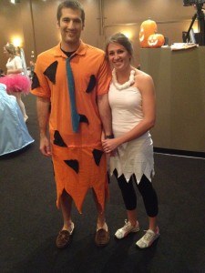 Fred and Wilma costume