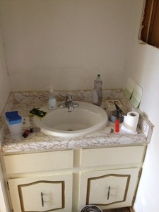 old half bathroom cabinet