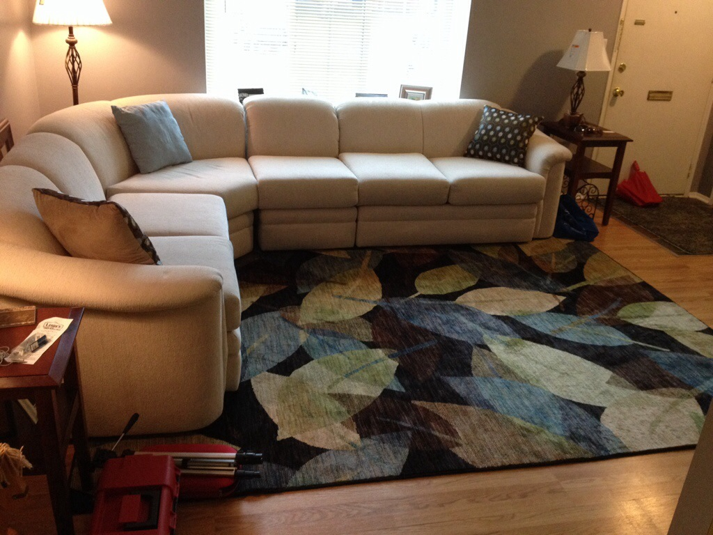 new couch and rug