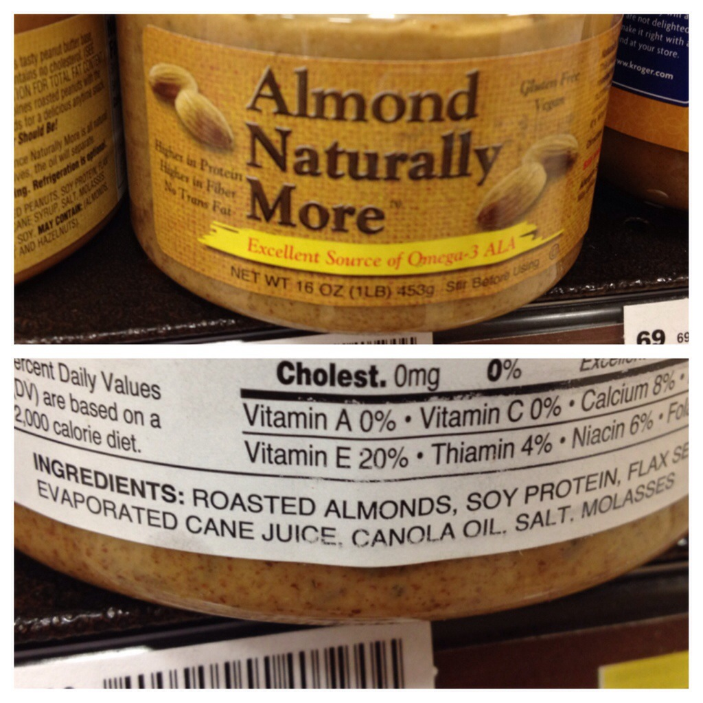 almond butter ingredient list