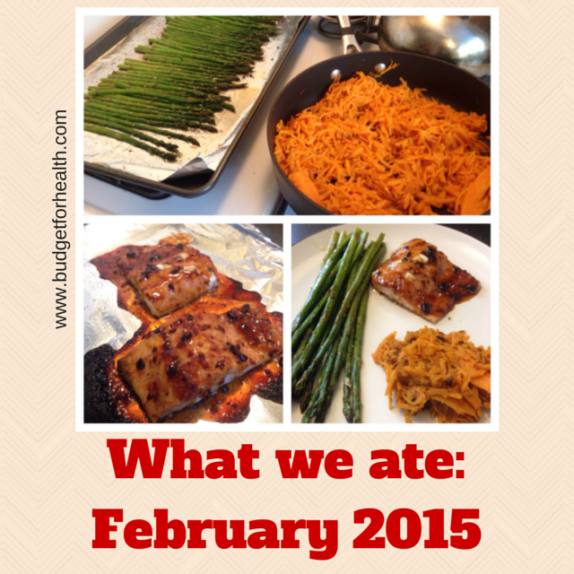 what we ate in February
