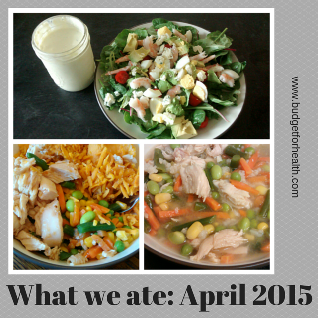 what we ate in April