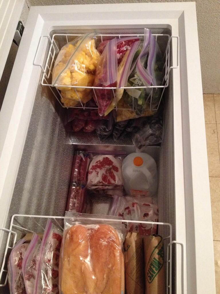 deep freezer contents