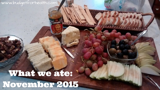 What we ate November 2015